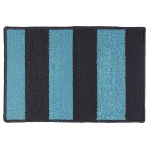 СТАВН Придверный коврик, серый, синий