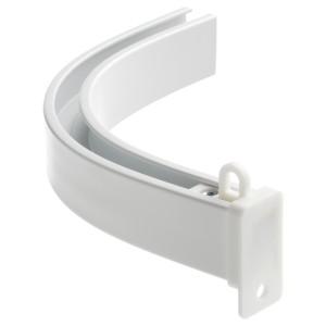ВИДГА Угловое соединение д/одинарной шины, прилагающиеся потолочные крепления, белый