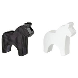 ЭРФОРДРА Украшение, лошадь, белый, черный