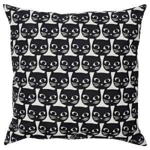 МАТТРАМ Подушка, белый, черный кот
