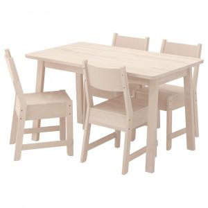 НОРРОКЕР / НОРРОКЕР Стол и 4 стула
