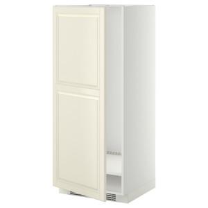 МЕТОД Высок шкаф д холодильн/мороз, белый, Будбин белый с оттенком