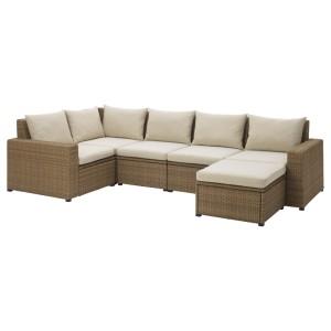 СОЛЛЕРОН Модульный угл 4-мест диван, садовый