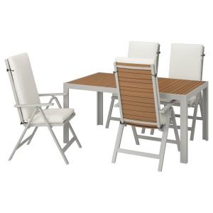 ШЭЛЛАНД Стол+4 кресла, д/сада, светло-коричневый, ФРЁСЁН/ДУВХОЛЬМЕН бежевый