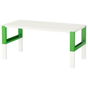 ПОЛЬ Письменный стол, белый, зеленый