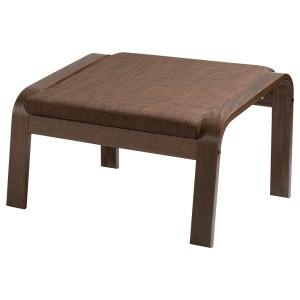 ПОЭНГ Табурет для ног, коричневый, Шифтебу коричневый
