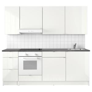 КНОКСХУЛЬТ Кухня, глянцевый, белый