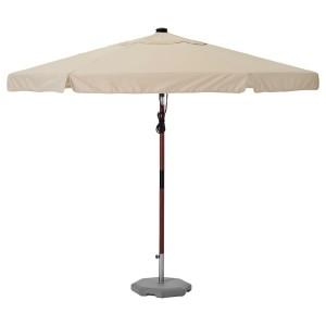 БЕТСО / ВОРХОЛЬМЕН Зонт от солнца с опорой, под коричневое дерево бежевый, Хювон