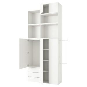 ОПХУС Гардероб с 5 дверями/3 ящиками, белый, Фоннес белый
